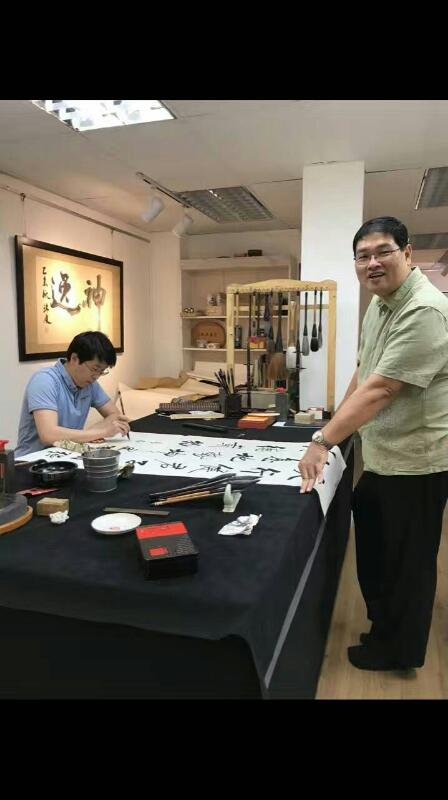 梅庵书画会北京师范大学启功书院副院长于乐及汪珂博士 mei an caligraphy malaysia art is art gallery 4