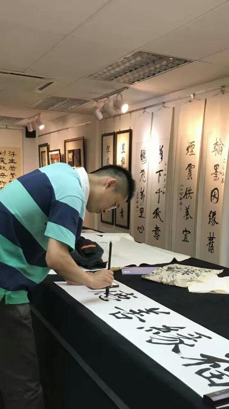 梅庵书画会北京师范大学启功书院副院长于乐及汪珂博士 mei an caligraphy malaysia art is art gallery